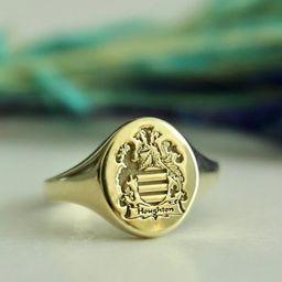 Family Crest Ring-Coat of Arms-Custom Family Crest | Etsy | Etsy (US)