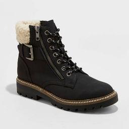 Women's Susan Sherpa Hiker Boots - Universal Thread™ Black   Target