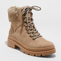 Women's Marissa Lace-Up Hiking Boots - Universal Thread™ Taupe   Target