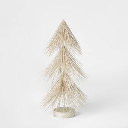 12in Unlit Tinsel Christmas Tree Decorative Figurine Champagne - Wondershop™ | Target