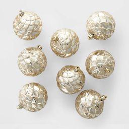 8ct Pine Cone Christmas 70mm Ornament Set Gold - Wondershop™ | Target