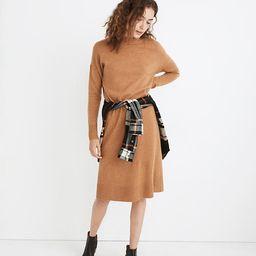 (Re)sourced Cashmere Mockneck Midi Sweater Dress   Madewell