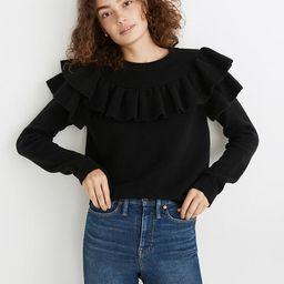 Ruffle-Yoke Sweater in Coziest Yarn   Madewell