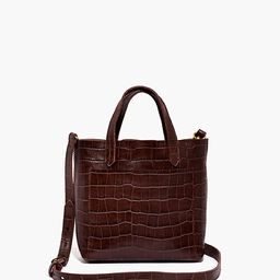 The Small Transport Crossbody: Croc Embossed Leather Edition   Madewell