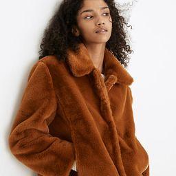 Faux-Fur Crop Coat   Madewell
