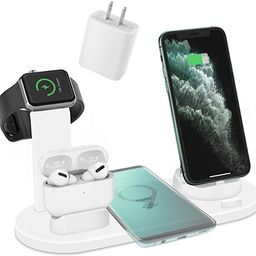 ZHOUBIN Wireless Charger Dock, 4 in 1 Wireless Charging Station Compatible with Apple Devices(App... | Amazon (US)