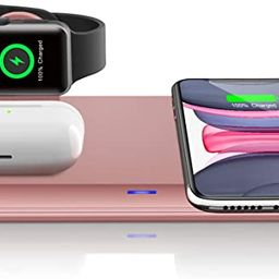 QI-EU Wireless Charger,3 in 1 Wireless Charging Station for iPhone 11/11pro/Se/X/XS/XR/Xs Max/8/8... | Amazon (US)