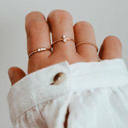 Double White CZ Ring - 24K Gold Vermeil Ring  -  White Zirconia Ring - Minimalist Ring - Layering...   Etsy (US)