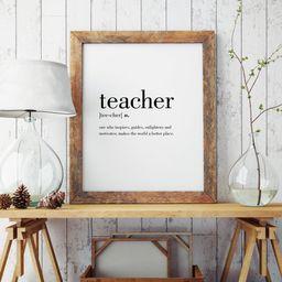 Teacher Definition Print  Teacher Wall Art  Teacher Poster    Etsy   Etsy (US)