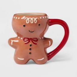 11oz Stoneware Gingerbread Man Christmas Mug Brown - Threshold™   Target