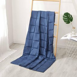 Sutton Home Fashions Navy Cotton 20 Lbs. Twin Weighted Blanket, Navy-20lb   The Home Depot