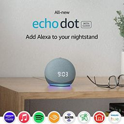 All-new Echo Dot (4th Gen) | Smart speaker with clock and Alexa | Twilight Blue | Amazon (US)