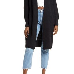 Ribbed Open Front Cardigan   Nordstrom