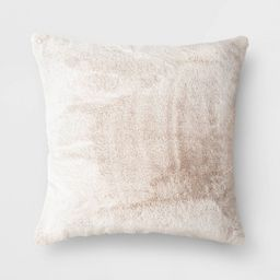 Faux Rabbit Fur Throw Pillow - Threshold™   Target