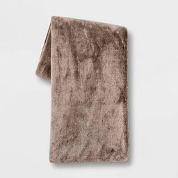 "50""x60"" Faux Rabbit Fur Throw Blanket - Threshold™   Target"