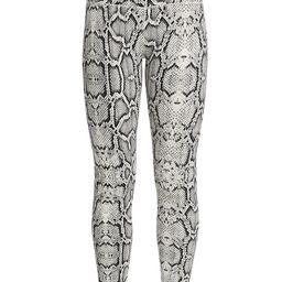 Varley Women's Century Python Leggings - Ivory Cobra - Size XS   Saks Fifth Avenue