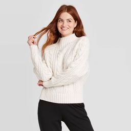 Women's Cable Turtleneck Pullover Sweater - A New day™   Target