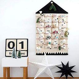 Hosmide Christmas Advent Calendars 24 Bags DIY Xmas Countdown Decorations Hanging Bag (Black)   Amazon (US)