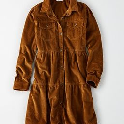 AE Corduroy Long Sleeve Babydoll Dress   American Eagle Outfitters (US & CA)
