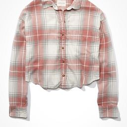 AE Cropped Plaid Flannel Shirt   American Eagle Outfitters (US & CA)