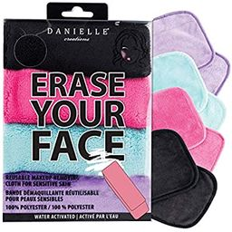 Make-up Removing Cloths 4 Count, Erase Your Face By Danielle Enterprises Enterprises Enterprises | Amazon (US)