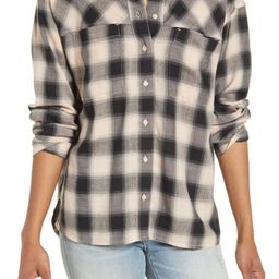 High/Low Plaid Button-Up Shirt   Nordstrom