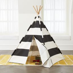 Black and White Teepee + Reviews   Crate and Barrel   Crate & Barrel
