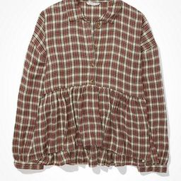 AE Plaid Flannel Babydoll Top   American Eagle Outfitters (US & CA)