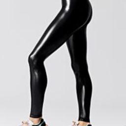 Regular Rise Full-Length Legging in Takara Shine   Carbon38