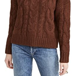 Mock Neck Cable Knit Sweater   Shopbop