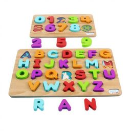 Chuckle & Roar 2pk Wood Puzzles – ABC's & 123s – 36pc   Target