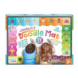 Chuckle & Roar Jumbo 4' x 3' Aqua Draw Doodle Mat   Target