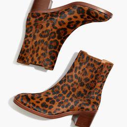 The Autumn High Chelsea Boot in Leopard Calf Hair | Madewell