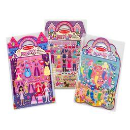 Melissa & Doug Puffy Sticker Activity Books Set: Dress-Up, Princess, Mermaid - 208 Reusable Stick...   Target