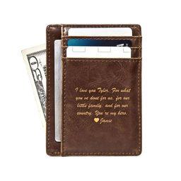 Front Pocket Wallet: Message   Swanky Badger