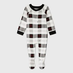 Baby Holiday Plaid Flannel Matching Family Footed Pajama - Wondershop™ White | Target