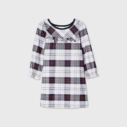 Toddler Girls' Holiday Plaid Flannel Matching Family Pajama Nightgown - Wondershop™ White | Target