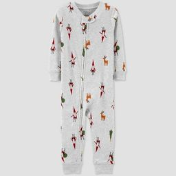 Toddler Organic Cotton Christmas Footless Pajama Jumpsuit - little planet organic by carter's Whi... | Target
