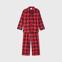 Kids' Holiday Buffalo Check Flannel Matching Family Pajama Set - Wondershop™ Red | Target