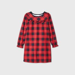 Kids' Holiday Buffalo Check Flannel Matching Family Pajamas Nightgown - Wondershop™ Red | Target