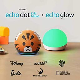 All-new Echo Dot (4th Gen) Kids Edition + Echo Glow   Tiger   Amazon (US)