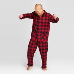 Men's Holiday Buffalo Check Flannel Matching Family Pajama Set - Wondershop™ Red | Target