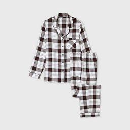 Women's Holiday Plaid Flannel Matching Family Pajama Set - Wondershop™ White | Target