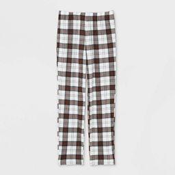 Women's Holiday Plaid Fleece Matching Family Pajama Pants - Wondershop™ White | Target
