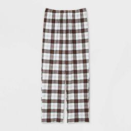 Men's Holiday Plaid Fleece Matching Family Pajama Pants - Wondershop™ White | Target