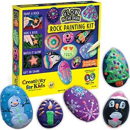Creativity for Kids Glow In The Dark Rock Painting Kit - Paint 10 Rocks with Water Resistant Glow...   Amazon (US)