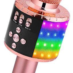 BONAOK Wireless Bluetooth Karaoke Microphone with Controllable LED Lights, Portable Handheld Kara...   Amazon (US)