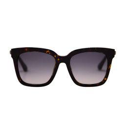 BELLA - AMBER TORTOISE + STEEL GRADIENT + POLARIZED | DIFF Eyewear