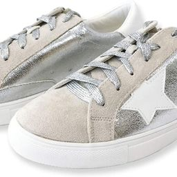 Women Classic Two Tone Star Lace up Fashion Sneakers Dale   Amazon (US)
