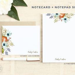 Personalized Stationery Set / Notecard and Notepad Stationary   Etsy   Etsy (US)